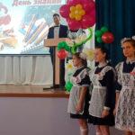 Роман Кобызов 1 сентября принял участие в школьной линейке в селе Белогорского района