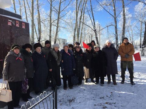 Коммунисты города Сковородино отметили юбилей Великого Октября возложением и митингом