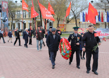 Коммунисты Благовещенска возложили цветы к Вечному Огню по случаю 76-й годовщины Великой Победы
