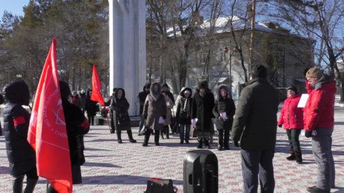 Митинг КПРФ против «мусорной аферы» в Шимановске состоялся вопреки противодействию городских властей