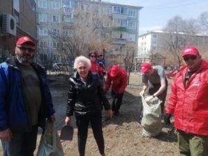 В ознаменование Дня международной солидарности трудящихся коммунисты и комсомольцы Благовещенска провели субботник